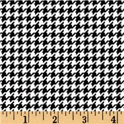 Michael Miller Tiny Houndstooth Black Fabric