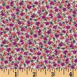 Timeless Treasures Chloe Packed Ditsy Floral Pink Fabric