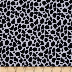 Stretch ITY Jersey Knit Animal Skin Spots Black/White