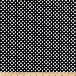 Riley Blake Laminate Small Dots Black/White