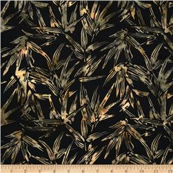 Island Batik Rayon Batik Shaded Bamboo Black