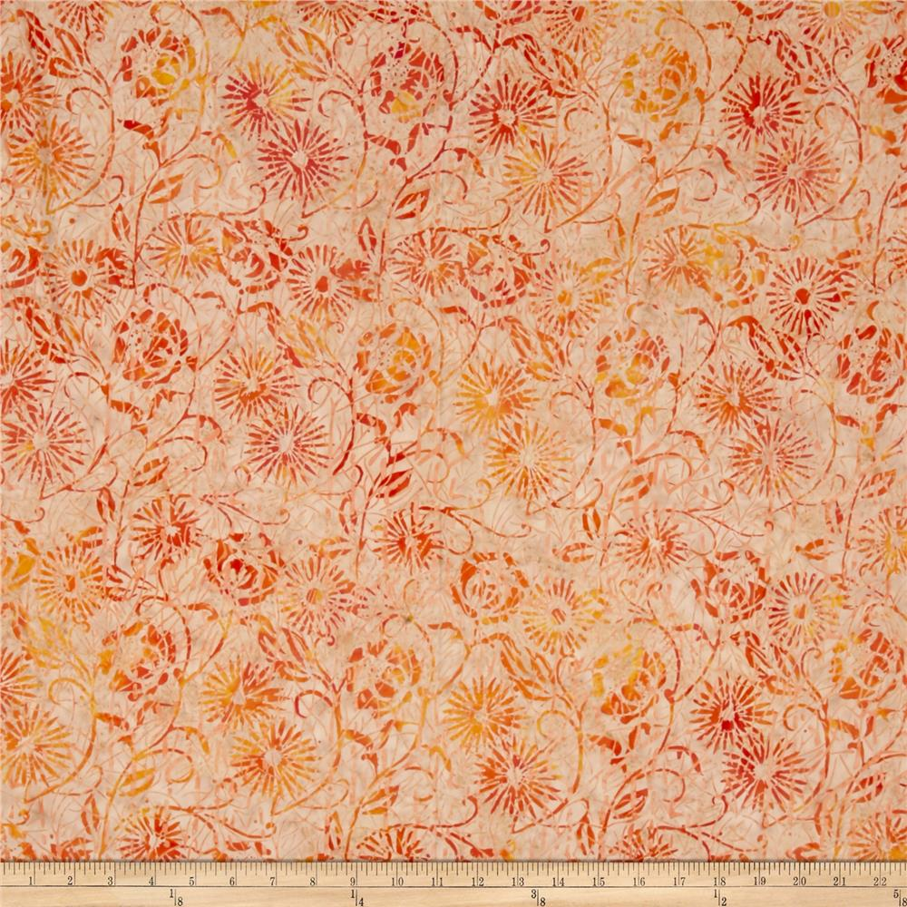 Island Batik Florida Oranges Twigs Branches Peach/Orange