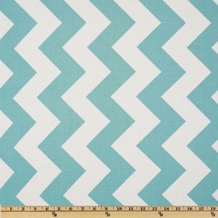 Riley Blake Chevron Large Aqua