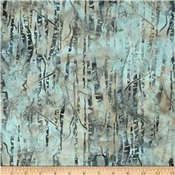 Bali Batiks Birch Trees Glacier Fabric