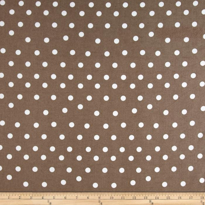 Flannel Dot Brown/White