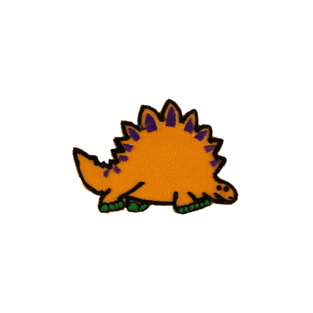 Dino with Spikes Applique Yellow