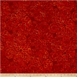 Island Batik Lavish Seed Flower Orange/Red