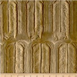 Faux Fur Embossed Beaver Camel Fabric
