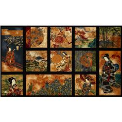 Oriental Traditions 10 Panel Crimson