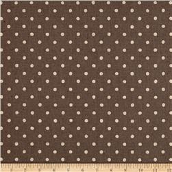 Kaufman Sevenberry Canvas Natural Dots Small Grey