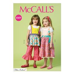 McCall's Chidren's/Girls' Top, Dress, Pinafores and Pants Pattern M6916 Size CDD