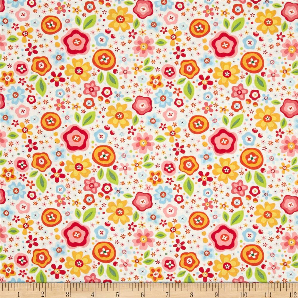 Riley Blake My Sunshine Large Floral Cream