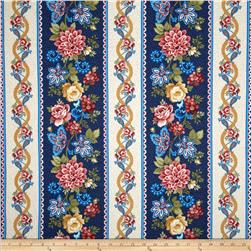 Summer Festival Large Border Stripe Blue