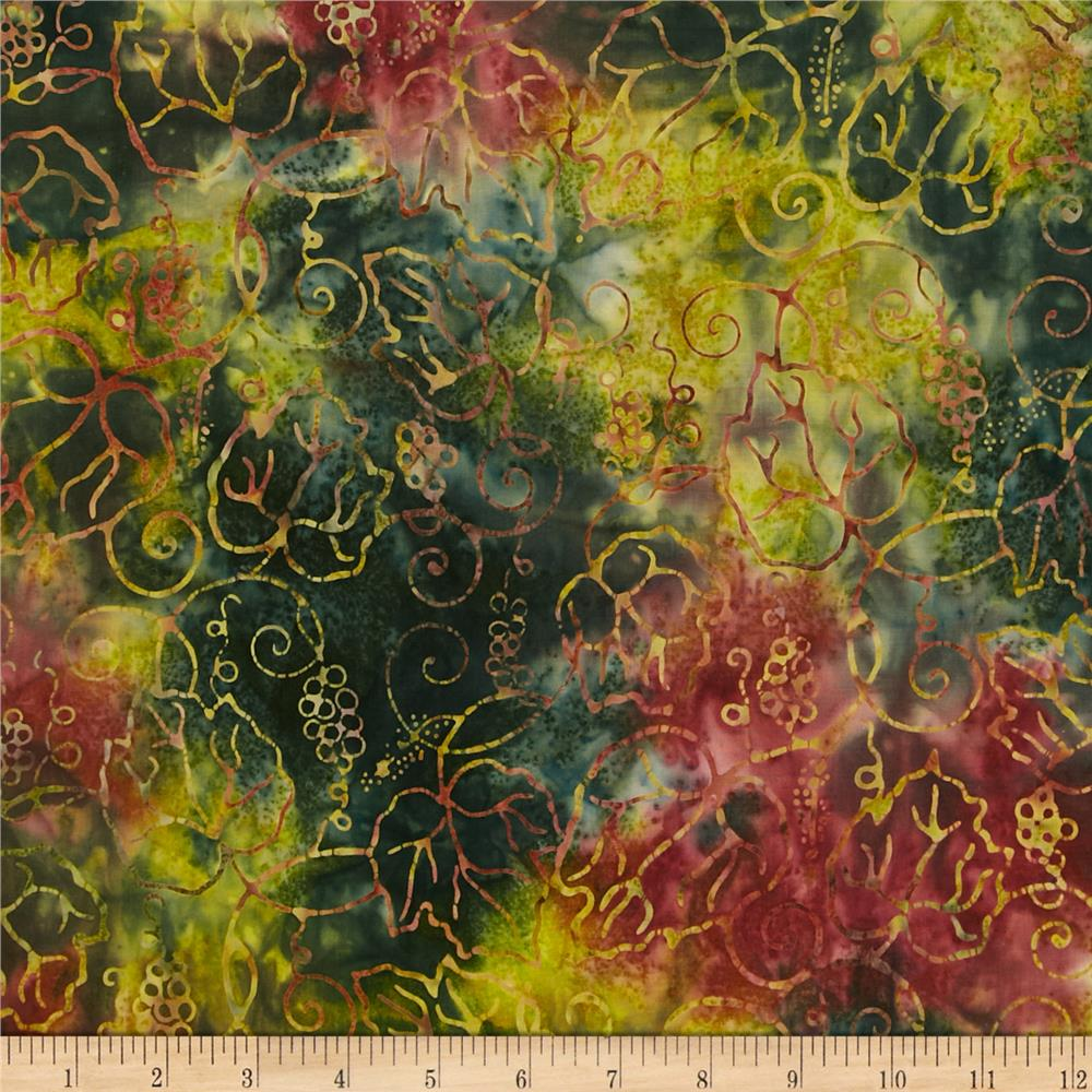Timeless Treasures Tonga Batik Grape Vine Forest