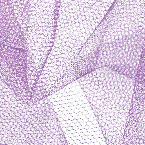 Nylon Net Pansy Purple Fabric