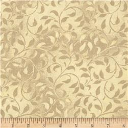 "Climbing Vine 108"" Wide Back Cream"