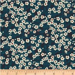 Liberty Of London Tana Lawn Mitsi Dark Teal/White