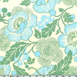 Amy Butler Midwest Modern Fresh Poppies Green Fabric