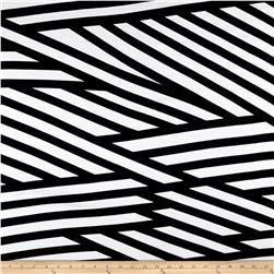 Ponte de Roma Abstract Stripe Black/White