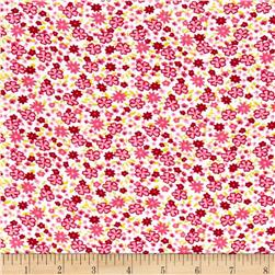 Corduroy Flowers Pink/Green