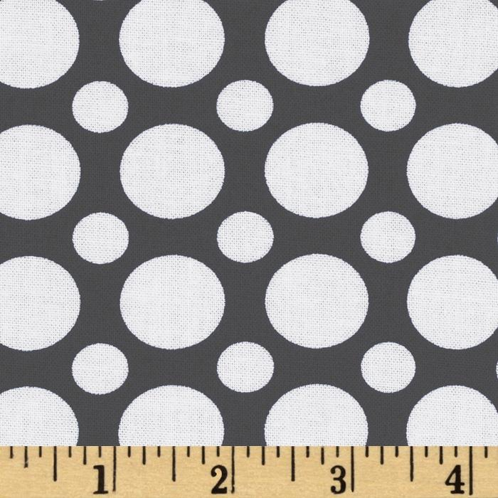 Kaufman Spot On Large Dot Grey