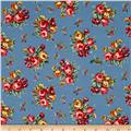 Newport Flannel Small Floral Blue