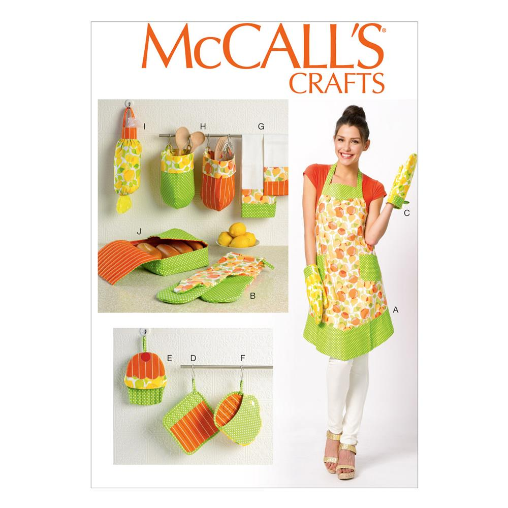 McCall's Apron and Kitchen Accessories Pattern M6978 Size