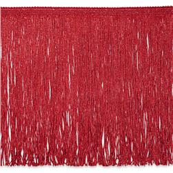 12'' Metallic Chainette Fringe Red