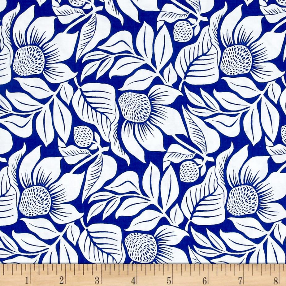 Modern Mixers III Large Floral Blue