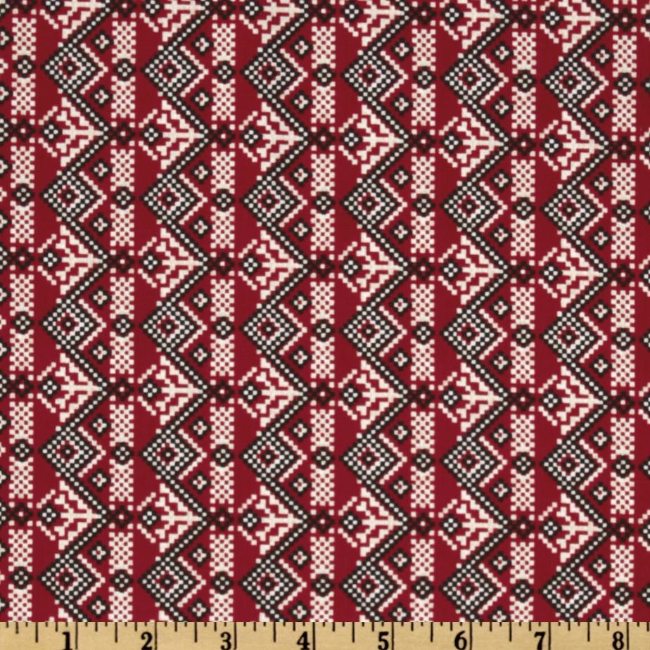 Winter Wonderland Zig Zag Stripe Red