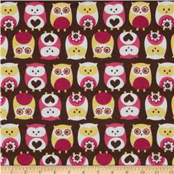 Flannel Owls Brown