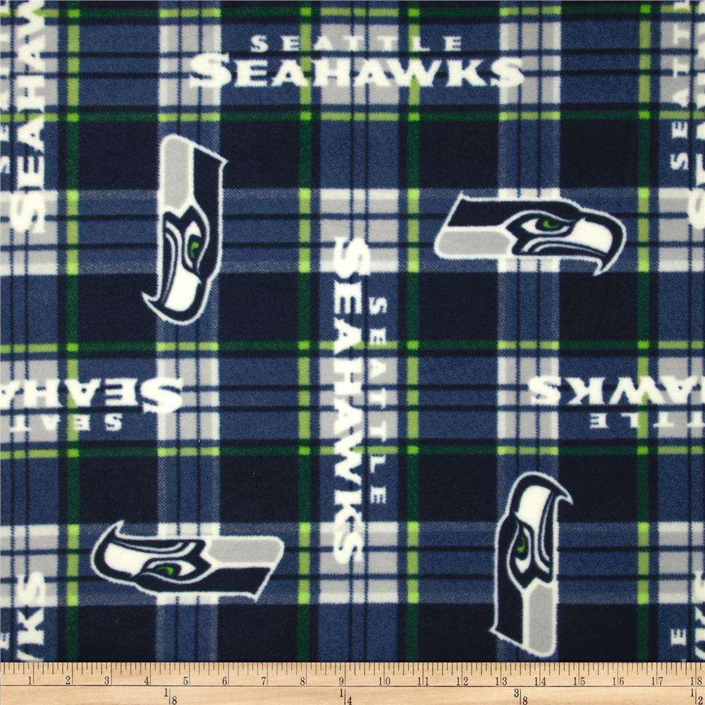 NFL Fleece Seattle Seahawks Plaid Navy