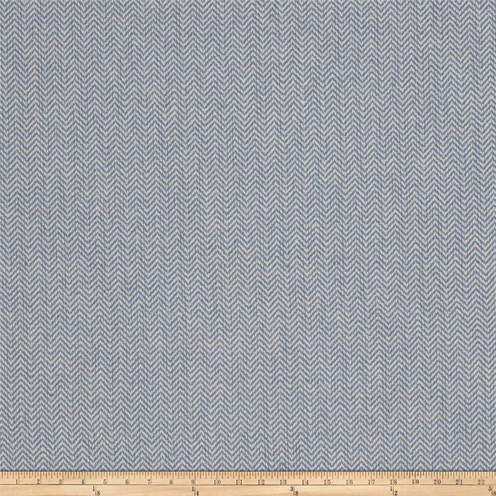Jaclyn Smith 02622 Herringbone Linen Indigo