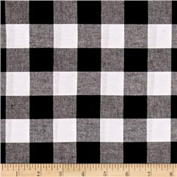 "Cotton + Steel Checkers Yarn Dyed Woven 1"" Black"