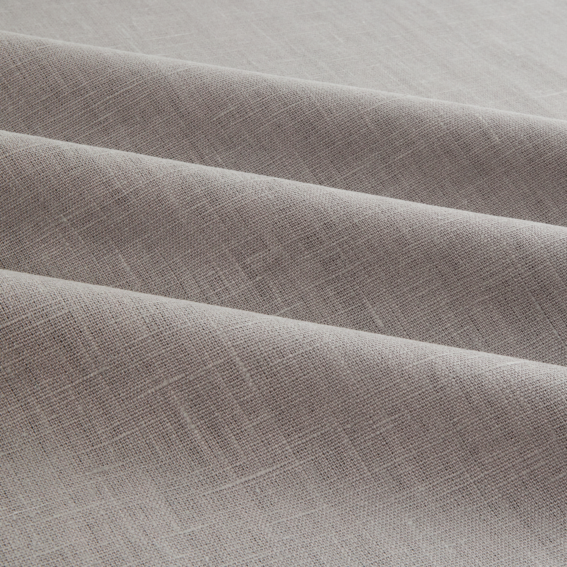 Image of European 100% Washed Linen Steel Fabric