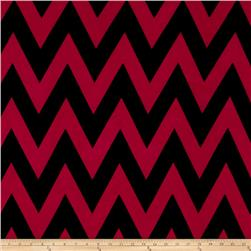 Stretch ITY Jersey Knit Chevron Hot Pink