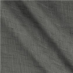 110'' Faux Linen Sheer Charcoal Fabric
