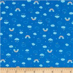 Lecien Minny Muu Tiny Clouds and Raindrops Dark Blue