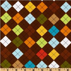 Kaufman 21 Wale Cool Cords Argyle Brown Fabric