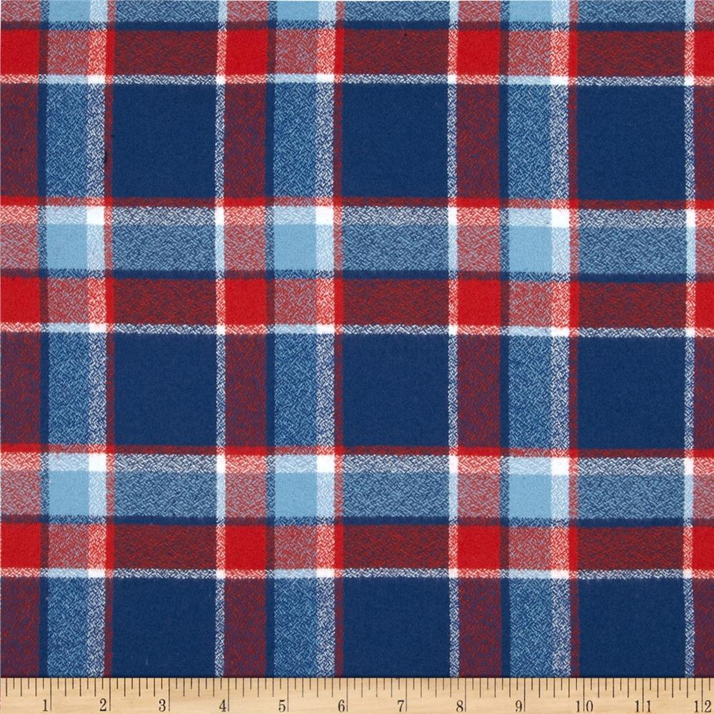 Kaufman Mammoth Flannel Plaid Americana Fabric By The Yard
