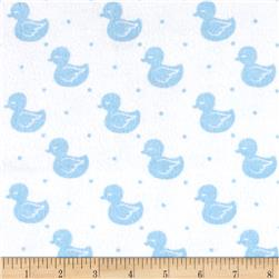Flannel Cute Duck Blue