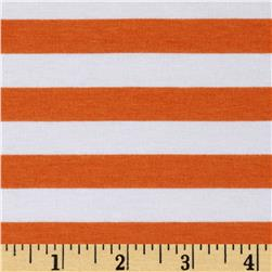 "Riley Blake Jersey Knit 1/2"" Stripes Orange"