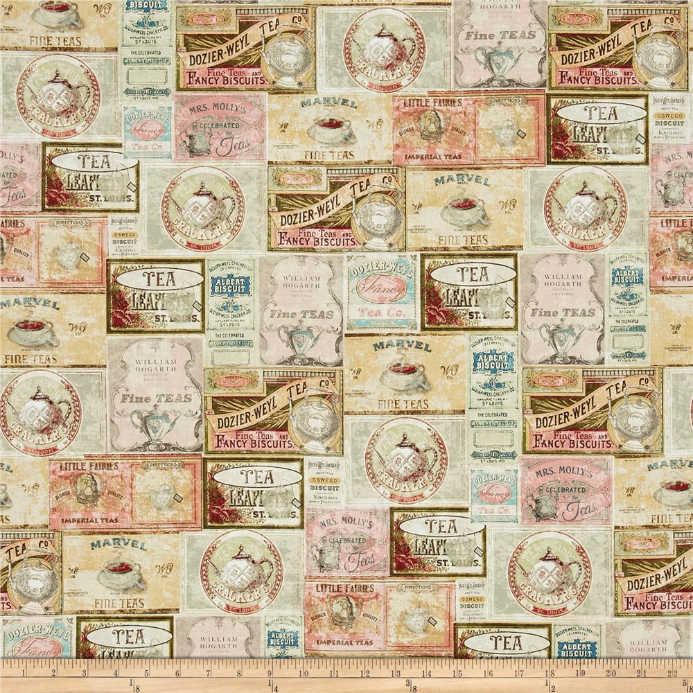Tea Time Labels Multi Pastel