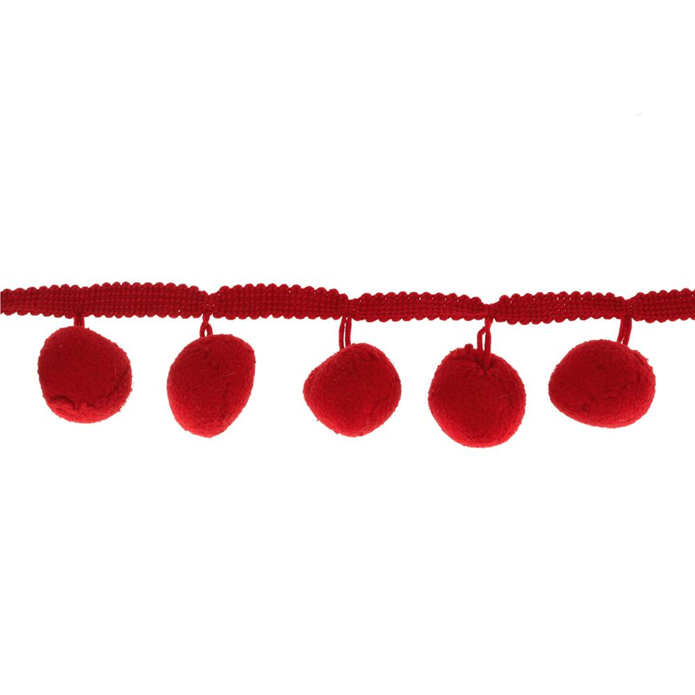 Riley Blake 1 1/4'' Jumbo Pom Pom Trim Red
