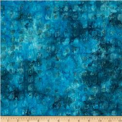 Bali Batik Handpaints Stitches Cerulean Fabric