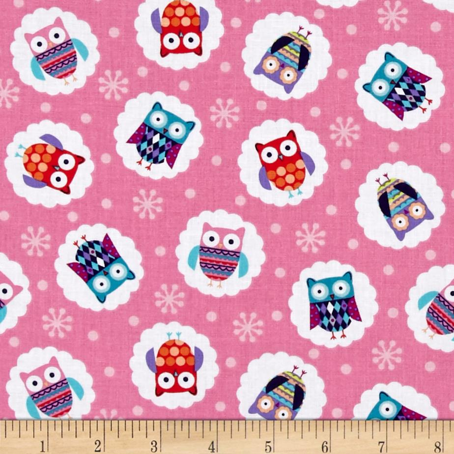 Wings-N-Things Owl Dot Pink