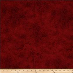"110"" Wide Quilt Back Bella Suede Red"