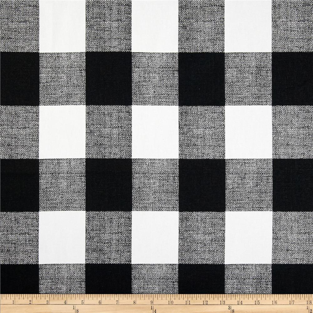 Black and white checked curtains - Premier Prints Anderson Check Black White Discount Designer Fabric Fabric Com
