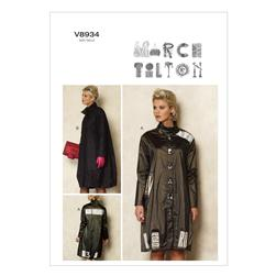 Vogue Misses' Coat Pattern V8934 Size 0Y0
