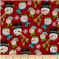 Frosty Flakes Snowmen Heads Red